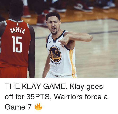 Game, Warriors, and A Game: THE KLAY GAME.  Klay goes off for 35PTS, Warriors force a Game 7 🔥