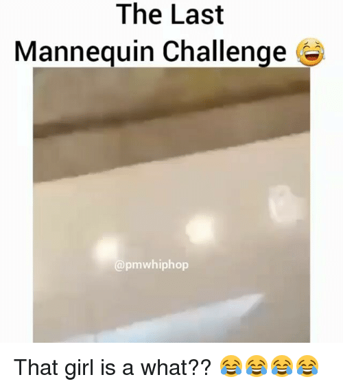 Mannequin Challeng: The Last  Mannequin Challenge  apmwhiphop That girl is a what?? 😂😂😂😂