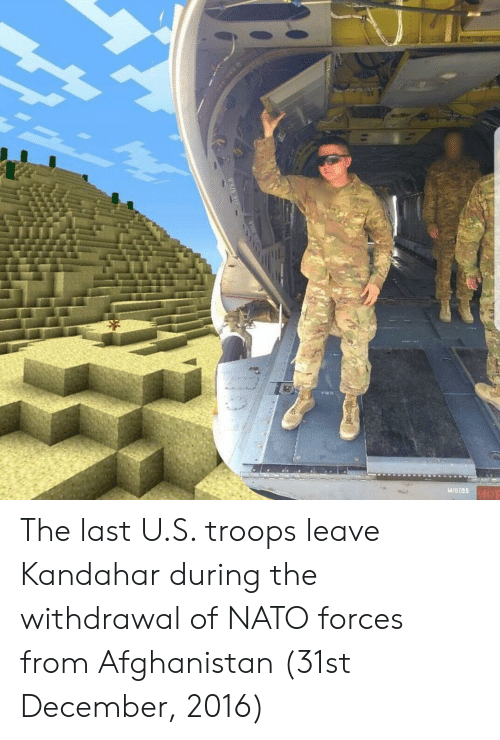 Afghanistan, Nato, and December: The last U.S. troops leave Kandahar during the withdrawal of NATO forces from Afghanistan (31st December, 2016)