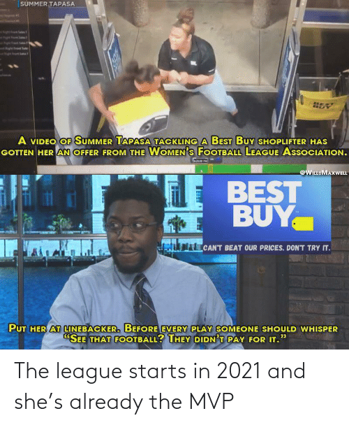 The League: The league starts in 2021 and she's already the MVP