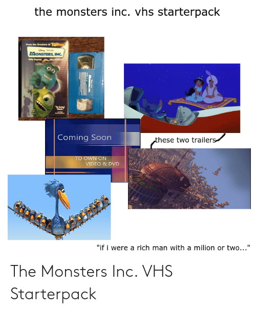 vhs: The Monsters Inc. VHS Starterpack