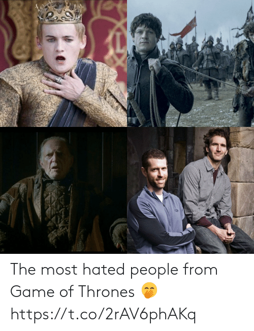 The Most: The most hated people from Game of Thrones 🤭 https://t.co/2rAV6phAKq