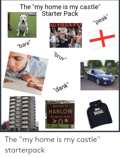 "Home Is: The ""my home is my castle"" starterpack"