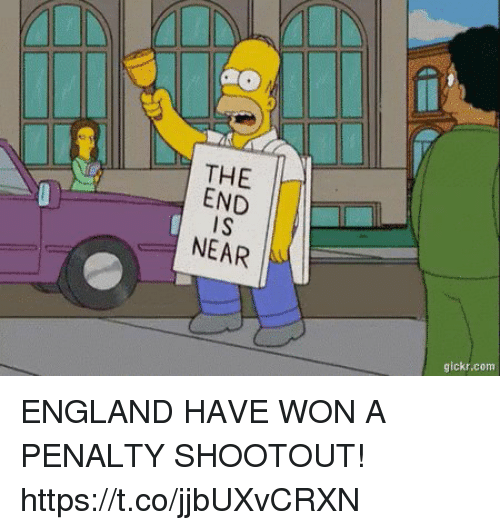 England, Soccer, and Com: THE  NEAR  gickr.com ENGLAND HAVE WON A PENALTY SHOOTOUT! https://t.co/jjbUXvCRXN