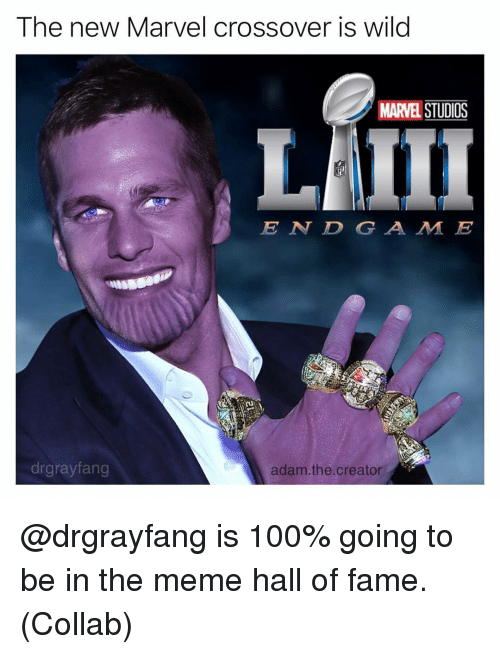 Adam The Creator: The new Marvel crossover is wild  MARVEL STUDIOS  E N DGA M E  drgrayfang  adam.the.creator @drgrayfang is 100% going to be in the meme hall of fame. (Collab)