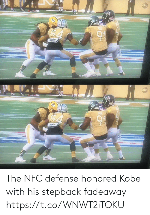 Https T: The NFC defense honored Kobe with his stepback fadeaway   https://t.co/WNWT2iTOKU