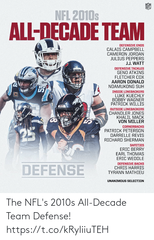 decade: The NFL's 2010s All-Decade Team Defense! https://t.co/kRyIiiuTEH