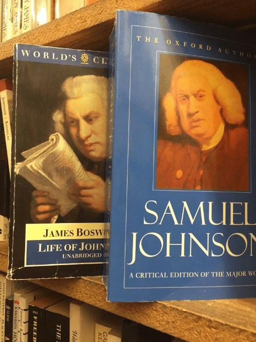 john: THE O XFORD AUTHOR  WORLD'S CL  SAMUEL  JAMES BOSWN  JOHNSON  LIFE OF JOHN  UNABRIDGED UD  A CRITICAL EDITION OF THE MAJOR WC  GA  KE  THE  FREED  A JAMTS  KAWARATA H