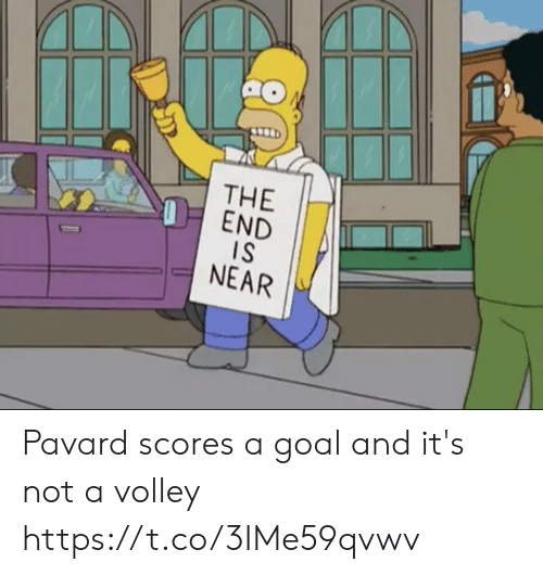 Scores: THE  OEND  IS  NEAR Pavard scores a goal and it's not a volley https://t.co/3IMe59qvwv