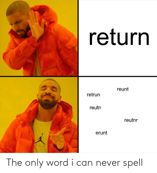 Word: The only word i can never spell