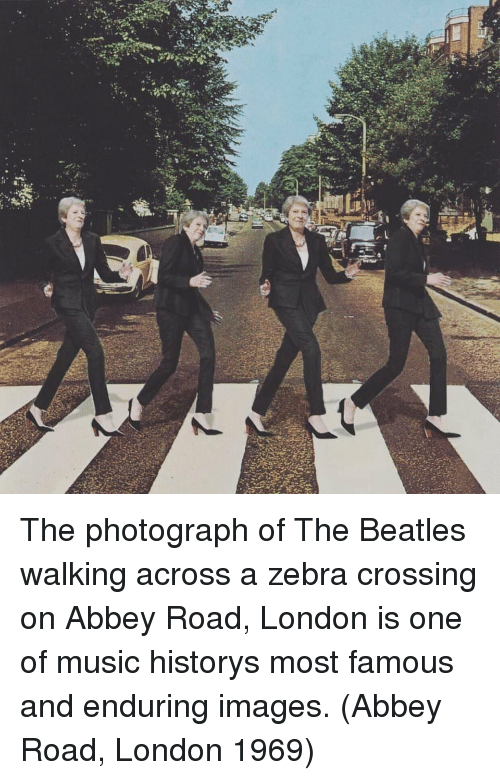 zebra: The photograph of The Beatles walking across a zebra crossing on Abbey Road, London is one of music historys most famous and enduring images. (Abbey Road, London 1969)