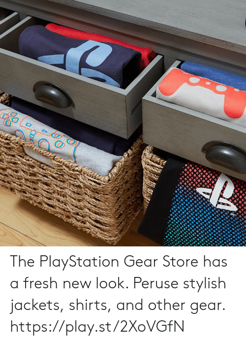 Dank, Fresh, and PlayStation: The PlayStation Gear Store has a fresh new look. Peruse stylish jackets, shirts, and other gear. https://play.st/2XoVGfN