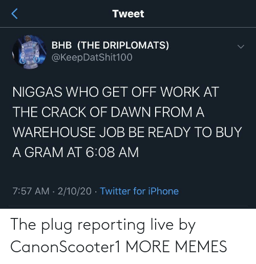 Live: The plug reporting live by CanonScooter1 MORE MEMES