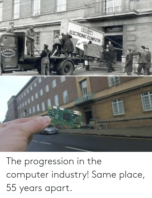 in-the-computer: The progression in the computer industry! Same place, 55 years apart.