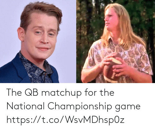Game: The QB matchup for the National Championship game https://t.co/WsvMDhsp0z