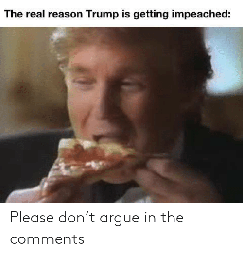 Please Don: The real reason Trump is getting impeached: Please don't argue in the comments
