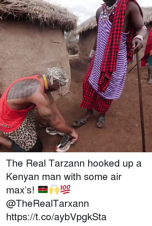 Kenyan: The Real Tarzann hooked up a Kenyan man with some air max's! 🇰🇪🙌💯 @TheRealTarxann https://t.co/aybVpgkSta