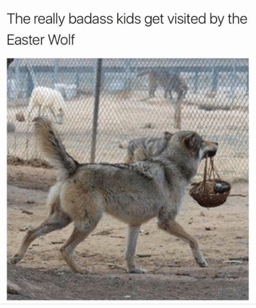 Dank, Easter, and Kids: The really badass kids get visited by the  Easter Wolf