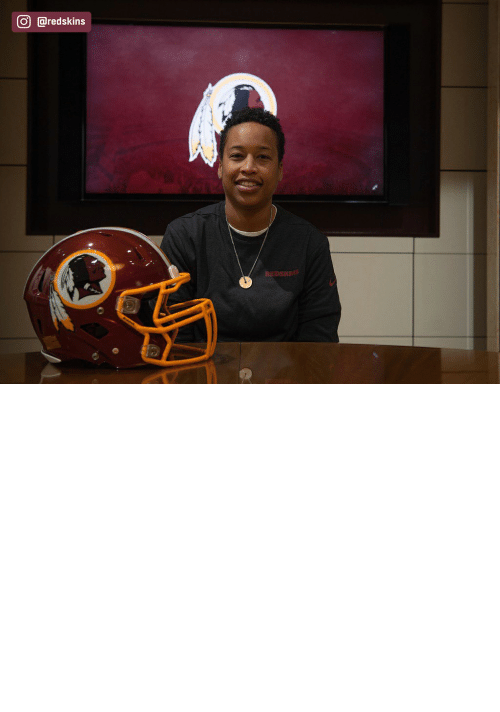 Memes, Nfl, and Washington Redskins: The Redskins have named Jennifer King as a full-year coaching intern. King is the first full season African American female coach in the NFL. (via @redskins) https://t.co/OuD411hqSr