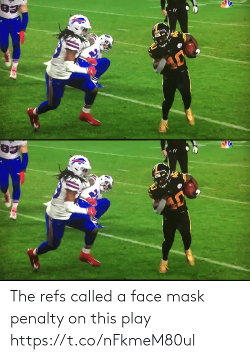 called: The refs called a face mask penalty on this play https://t.co/nFkmeM80ul