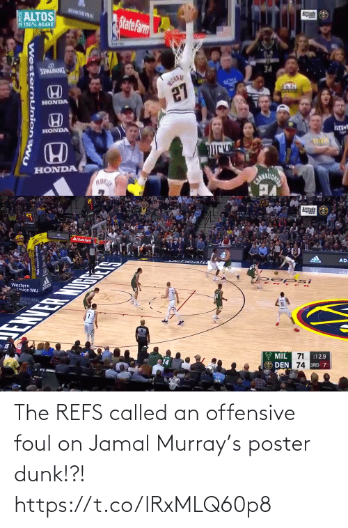 Dunk: The REFS called an offensive foul on Jamal Murray's poster dunk!?!  https://t.co/lRxMLQ60p8