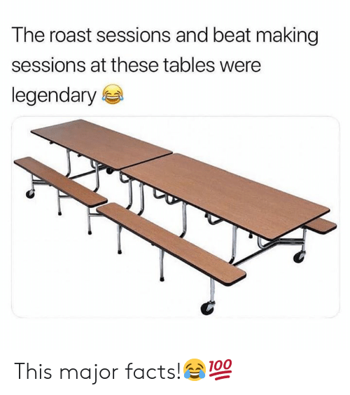 Facts, Roast, and Hood: The roast sessions and beat making  sessions at these tables were  legendary This major facts!😂💯