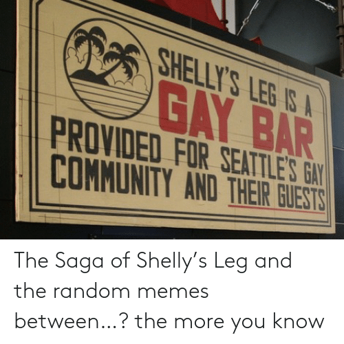 leg: The Saga of Shelly's Leg and the random memes between…? the more you know
