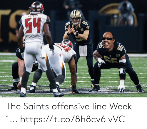 Football, Nfl, and New Orleans Saints: The Saints offensive line Week 1... https://t.co/8h8cv6lvVC