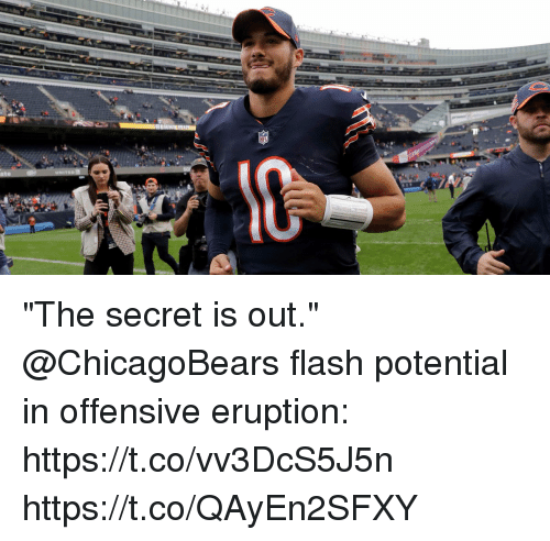"Memes, 🤖, and Flash: ""The secret is out.""  @ChicagoBears flash potential in offensive eruption: https://t.co/vv3DcS5J5n https://t.co/QAyEn2SFXY"