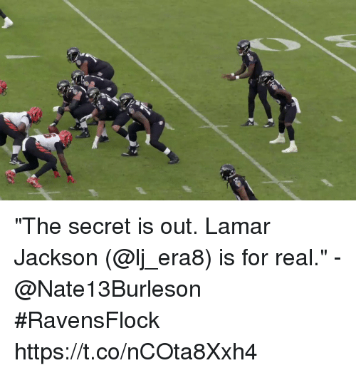 "Memes, 🤖, and Secret: ""The secret is out. Lamar Jackson (@lj_era8) is for real."" - @Nate13Burleson  #RavensFlock https://t.co/nCOta8Xxh4"