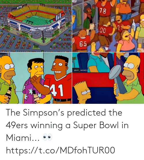San Francisco 49ers: The Simpson's predicted the 49ers winning a Super Bowl in Miami... 👀 https://t.co/MDfohTUR00