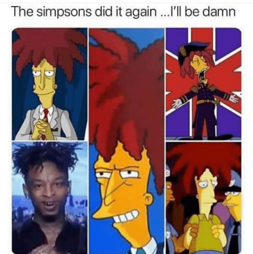 The Simpsons, The Simpsons, and Did: The simpsons did it again ..I'll be damn