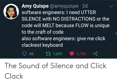 Silence: The Sound of Silence and Click Clack