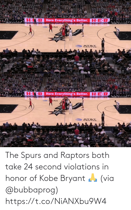 Both: The Spurs and Raptors both take 24 second violations in honor of Kobe Bryant 🙏 (via @bubbaprog) https://t.co/NiANXbu9W4