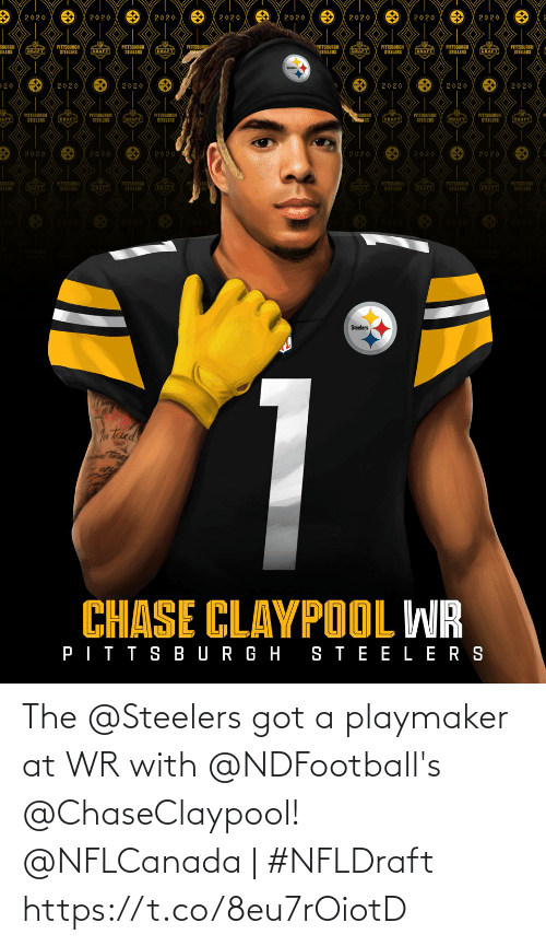 Steelers: The @Steelers got a playmaker at WR with @NDFootball's @ChaseClaypool!  @NFLCanada | #NFLDraft https://t.co/8eu7rOiotD