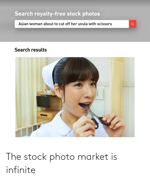stock: The stock photo market is infinite