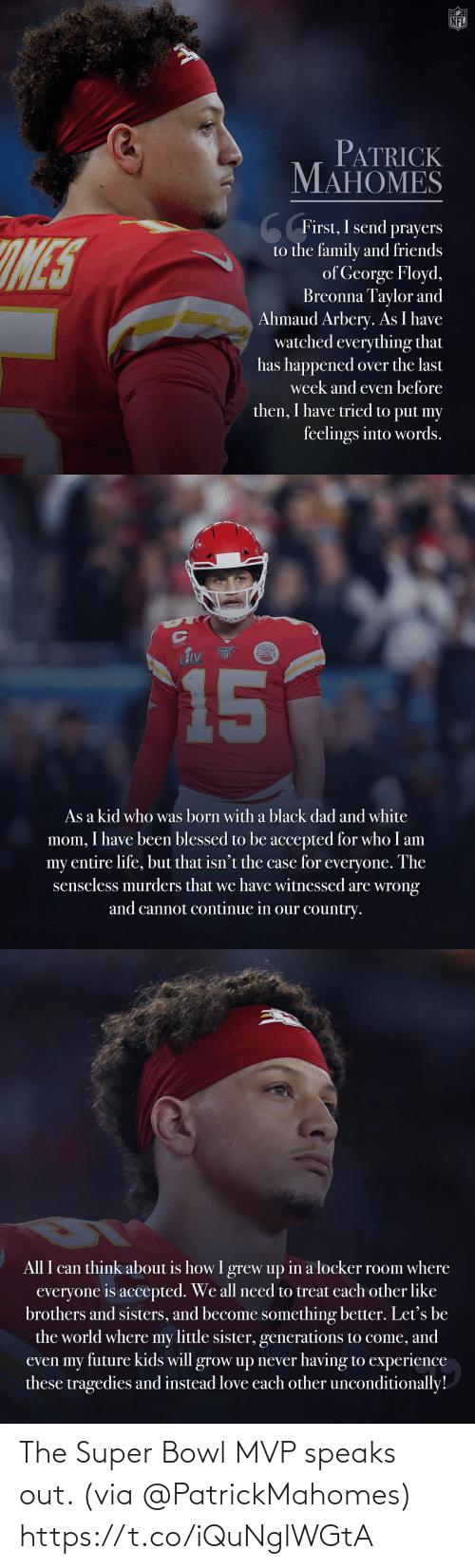 super: The Super Bowl MVP speaks out. (via @PatrickMahomes) https://t.co/iQuNglWGtA
