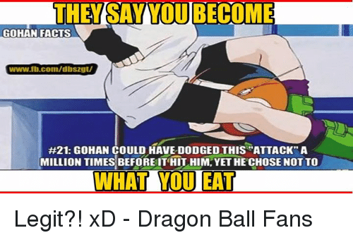 the tsayvoubecome gohan facts wwwfbcomdbs2gt 21 gohan could have