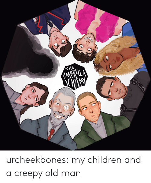 Children, Creepy, and Old Man: THE urcheekbones:  my children and a creepy old man