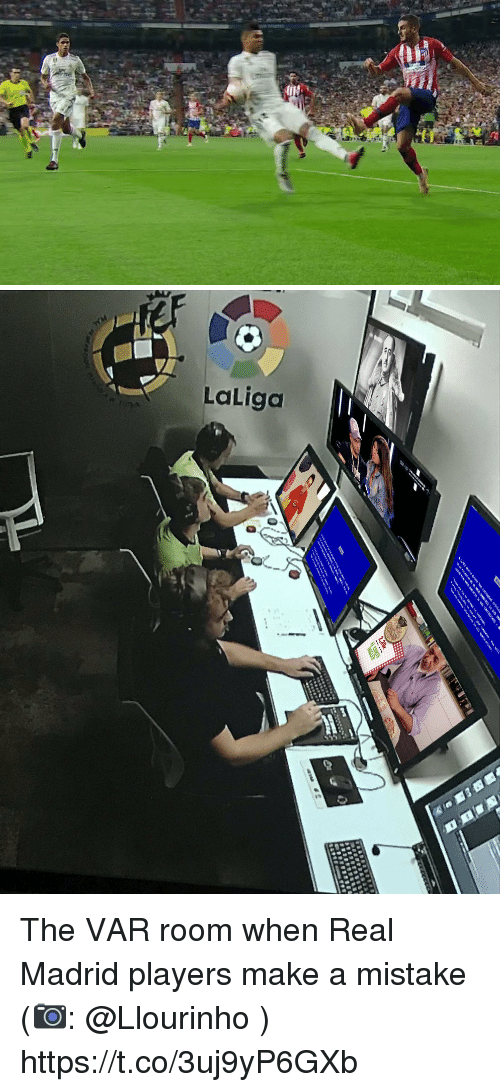 Memes, Real Madrid, and 🤖: The VAR room when Real Madrid players make a mistake (📷: @Llourinho ) https://t.co/3uj9yP6GXb