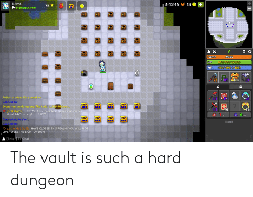 the vault: The vault is such a hard dungeon