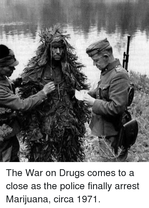 Drugs, Police, and Marijuana: The War on Drugs comes to a close as the police finally arrest Marijuana, circa 1971.