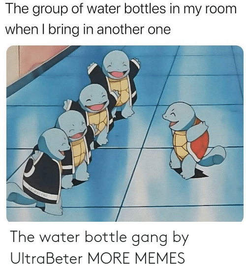 Water: The water bottle gang by UltraBeter MORE MEMES
