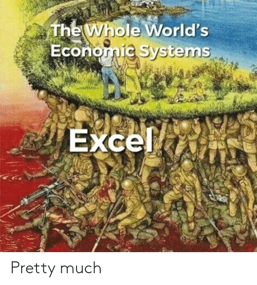 Excel: The Whole World's  Economic Systems  Excel Pretty much