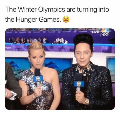 The Hunger Games, Winter, and Games: The Winter Olympics are turning into  the Hunger Games.