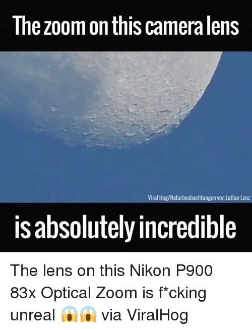 nikon p900: The zoom on this cameralens  Viral Hog/Naturbeobachtungen von Lothar Lenz  is absolutelyincredible The lens on this Nikon P900 83x Optical Zoom is f*cking unreal 😱😱  via ViralHog