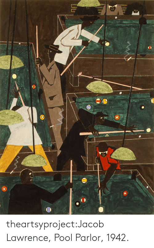 Pool: theartsyproject:Jacob Lawrence, Pool Parlor, 1942.