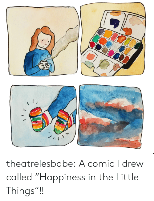 """Target, Tumblr, and Blog: theatrelesbabe: A comic I drew called""""Happiness in the Little Things""""!!"""