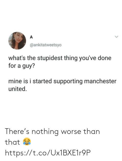 soccer: There's nothing worse than that 😂 https://t.co/Ux1BXE1r9P