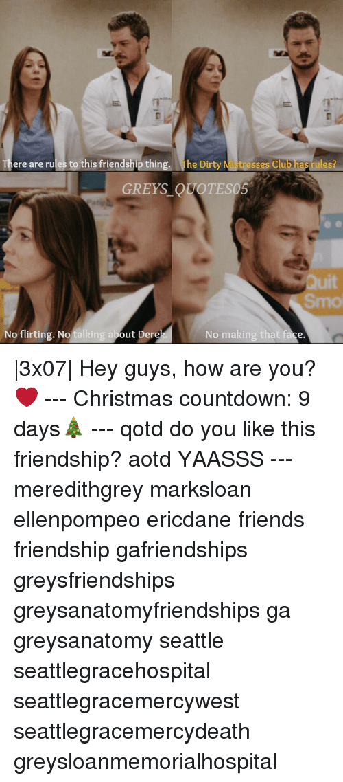 countdown memes and seattle there are rules to this friendship thin the dirty - Dirty Christmas Memes